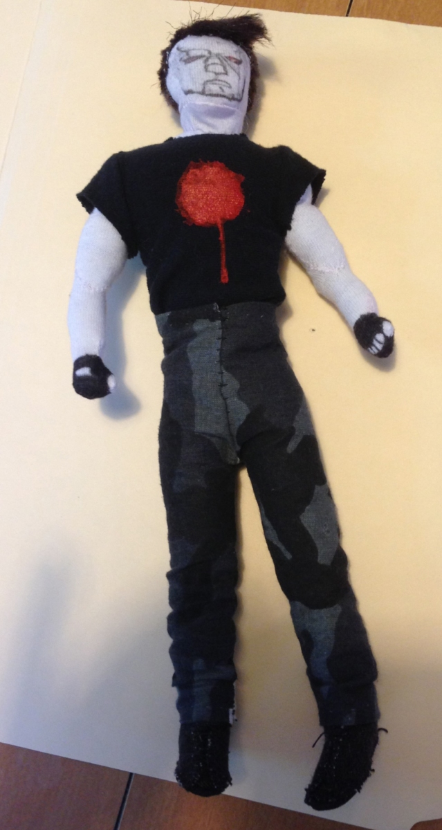 Bloodshot action figure doll