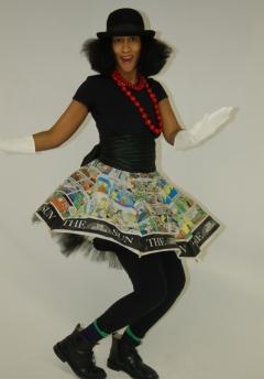 upcycled umbrella skirt